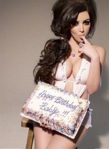 Kim Kardashian birthday cake