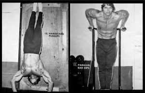 Arnold Using Calisthenics to Build Muscle